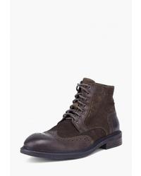 Темно-коричневые кожаные ботинки броги от Airbox