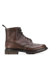 Темно-коричневые кожаные ботинки броги от Church's