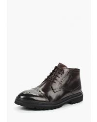Темно-коричневые кожаные ботинки броги от Valor Wolf