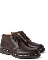 Темно-коричневые кожаные ботинки дезерты
