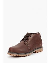Темно-коричневые кожаные ботинки дезерты от Affex