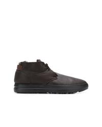 Темно-коричневые кожаные ботинки дезерты от Baldinini