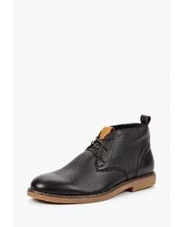 Темно-коричневые кожаные ботинки дезерты от Brulloff