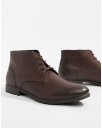 Темно-коричневые кожаные ботинки дезерты от Jack & Jones