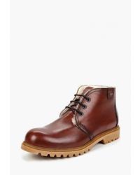 Темно-коричневые кожаные ботинки дезерты от Lloyd