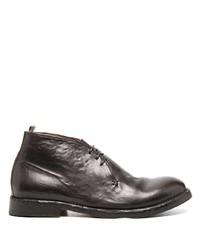 Темно-коричневые кожаные ботинки дезерты от Officine Creative