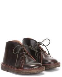 Детские темно-коричневые кожаные ботинки дезерты для мальчику от Pépé