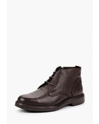 Темно-коричневые кожаные ботинки дезерты от Pierre Cardin