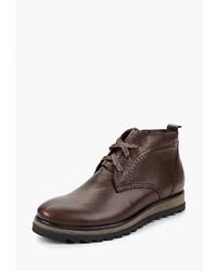 Темно-коричневые кожаные ботинки дезерты от Valley