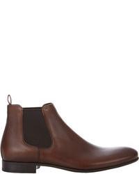 Темно-коричневые кожаные ботинки челси