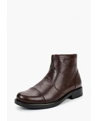 Мужские темно-коричневые кожаные ботинки челси от Airbox