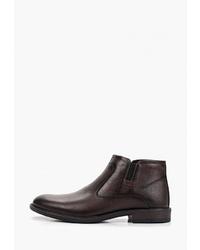 Мужские темно-коричневые кожаные ботинки челси от Alessio Nesca