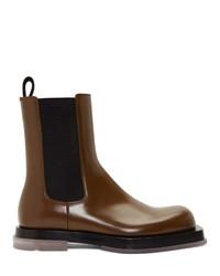Мужские темно-коричневые кожаные ботинки челси от Bottega Veneta