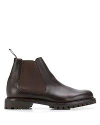 Мужские темно-коричневые кожаные ботинки челси от Church's