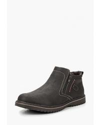 Мужские темно-коричневые кожаные ботинки челси от Escan