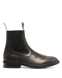 Мужские темно-коричневые кожаные ботинки челси от Lanvin