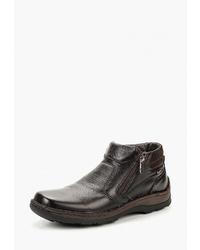 Мужские темно-коричневые кожаные ботинки челси от Legre