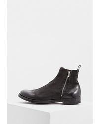 Мужские темно-коричневые кожаные ботинки челси от Officine Creative