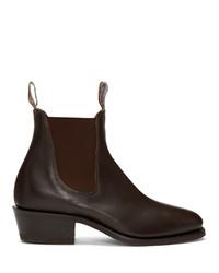 Мужские темно-коричневые кожаные ботинки челси от R.M. Williams