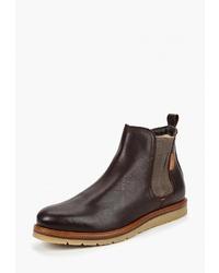Мужские темно-коричневые кожаные ботинки челси от Storm