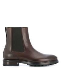 Мужские темно-коричневые кожаные ботинки челси от Tom Ford