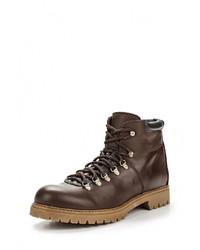 Мужские темно-коричневые кожаные ботинки от Beppi