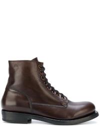 Мужские темно-коричневые кожаные ботинки от Buttero