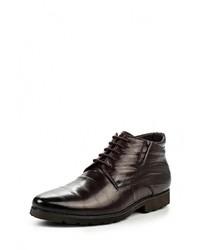 Мужские темно-коричневые кожаные ботинки от Carlo Bellini