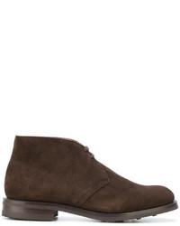 Мужские темно-коричневые кожаные ботинки от Church's