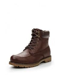 Мужские темно-коричневые кожаные ботинки от Goor