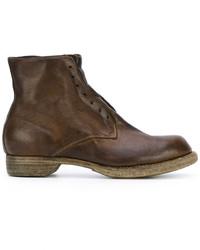 Мужские темно-коричневые кожаные ботинки от Guidi