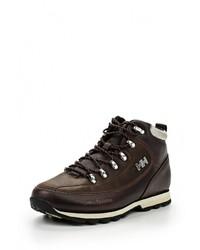 Мужские темно-коричневые кожаные ботинки от Helly Hansen