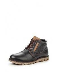 Мужские темно-коричневые кожаные ботинки от iD! Collection