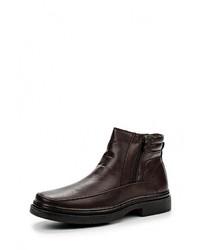 Мужские темно-коричневые кожаные ботинки от Pradella