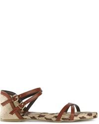 Темно-коричневые кожаные гладиаторы от Castaner