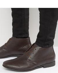 Мужские темно-коричневые кожаные дезерты от ASOS DESIGN