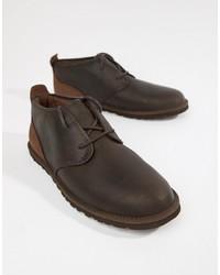 Мужские темно-коричневые кожаные дезерты от UGG