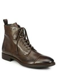 Темно-коричневые кожаные классические ботинки