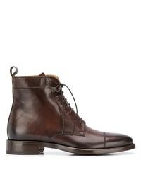 Мужские темно-коричневые кожаные классические ботинки от Scarosso