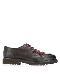 Темно-коричневые кожаные массивные туфли дерби