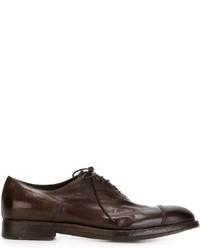 Мужские темно-коричневые кожаные оксфорды от Alberto Fasciani