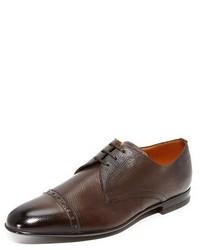 Мужские темно-коричневые кожаные оксфорды от Bally