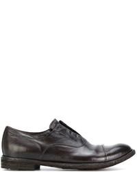 Мужские темно-коричневые кожаные оксфорды от Officine Creative