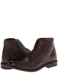Темно-коричневые кожаные повседневные ботинки