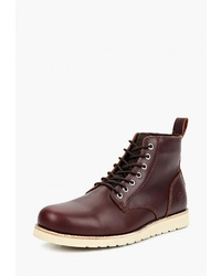 Мужские темно-коричневые кожаные повседневные ботинки от Affex