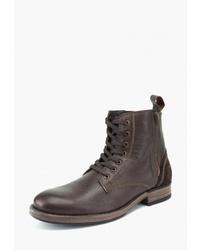 Мужские темно-коричневые кожаные повседневные ботинки от Airbox
