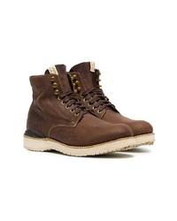 Мужские темно-коричневые кожаные повседневные ботинки от VISVIM