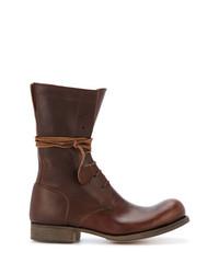 Мужские темно-коричневые кожаные повседневные ботинки от C Diem