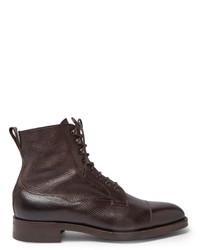 Мужские темно-коричневые кожаные повседневные ботинки от Edward Green