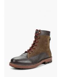 Мужские темно-коричневые кожаные повседневные ботинки от Gioseppo